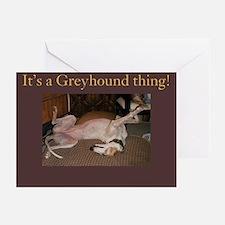Greyhound Thing Greeting Cards (Pk of 10)