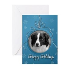 Elegant Border Collie Holiday Cards (Pk of 20)