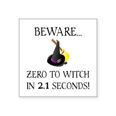 Zero To Witch Sticker