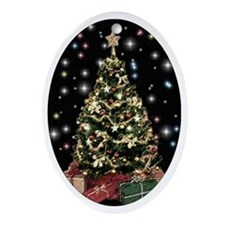 Night tree Ornament (Oval)