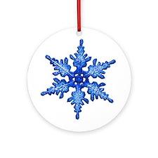 Blue flake Ornament (Round)