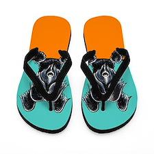 Skye Terrier Blue Citrus Flip Flops