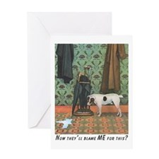 Dog Blamed Greeting Card
