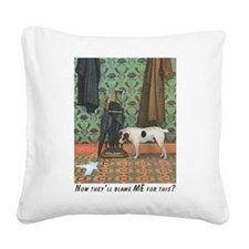 Dog Blamed Square Canvas Pillow