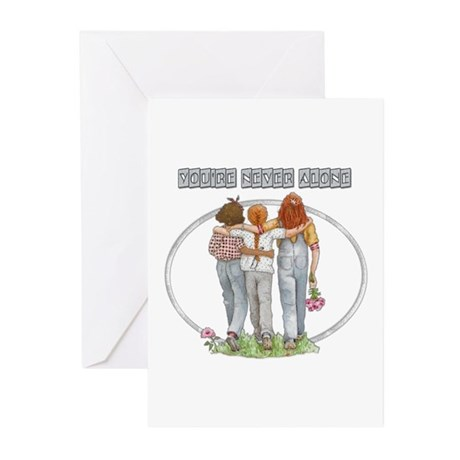 Youre Never Alone Greeting Cards (Pk of 20)