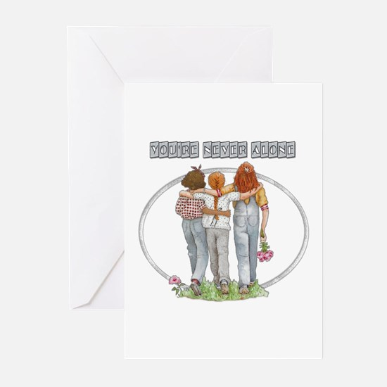 Youre Never Alone Greeting Cards (Pk of 10)