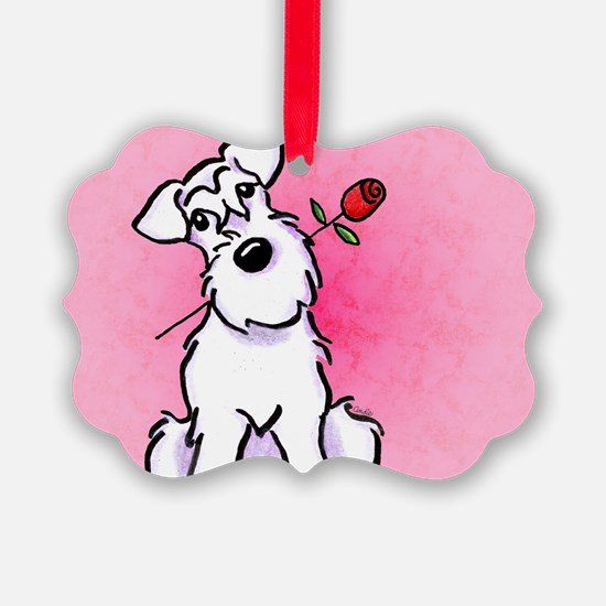 White Schnauzer Sweetheart Ornament