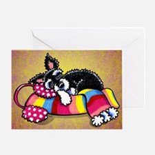 Schnauzer Scarf Pup Greeting Card
