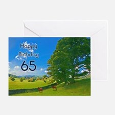65th Birthday card with landscape Greeting Card
