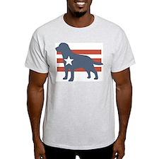 Patriotic Labrador Retriever Ash Grey T-Shirt