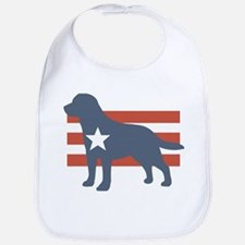 Patriotic Labrador Retriever Bib
