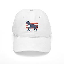 Patriotic Labrador Retriever Baseball Cap