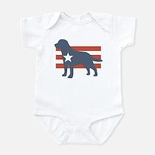 Patriotic Labrador Retriever Infant Bodysuit