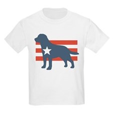 Patriotic Labrador Retriever Kids T-Shirt