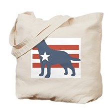 Patriotic Labrador Retriever Tote Bag