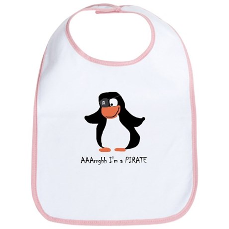 Senor Pirate Penguin Bib