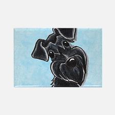 Black Schnauzer Pup Rectangle Magnet (100 pack)