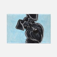 Black Schnauzer Pup Rectangle Magnet