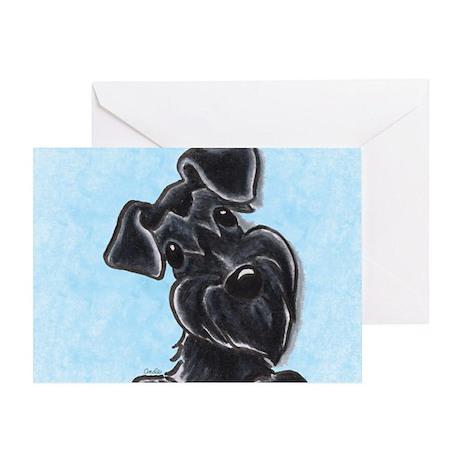 Black Schnauzer Pup Greeting Card