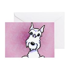White Schnauzer Cropped Greeting Card