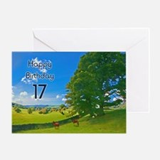 17th Birthday card with landscape Greeting Card
