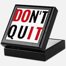 do it, don't quit, motivational text design Keepsa