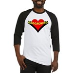 Geocaching Heart Baseball Jersey