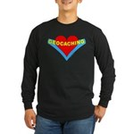 Geocaching Heart Long Sleeve Dark T-Shirt