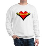 Geocaching Heart Sweatshirt
