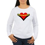 Geocaching Heart Women's Long Sleeve T-Shirt