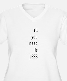all you need is less, motivational text design Plu
