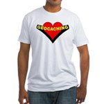 Geocaching Heart Fitted T-Shirt