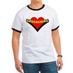 Geocaching Heart Ringer T