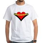 Geocaching Heart White T-Shirt
