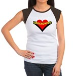 Geocaching Heart Women's Cap Sleeve T-Shirt