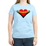 Geocaching Heart Women's Light T-Shirt