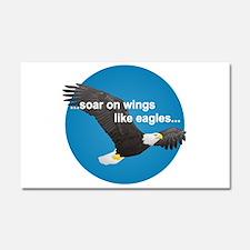 Wings Like Eagles Car Magnet 20 x 12