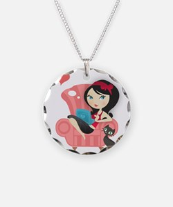 cat and girl Necklace