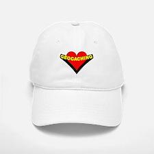 Geocaching Heart Baseball Baseball Cap