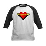Geocaching Heart Kids Baseball Jersey