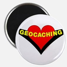 Geocaching Heart Magnet