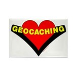 Geocaching Heart Rectangle Magnet (10 pack)