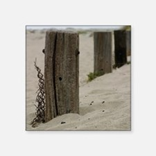 """Old Fence Poles Square Sticker 3"""" x 3"""""""