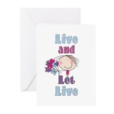 Live and Let Live Greeting Cards (Pk of 20)