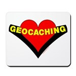 Geocaching Heart Mousepad