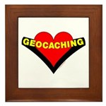 Geocaching Heart Framed Tile