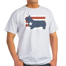 Patriotic Pembroke Welsh Corg Ash Grey T-Shirt