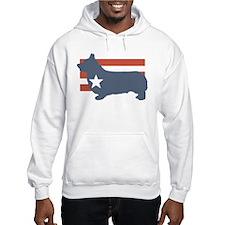 Patriotic Pembroke Welsh Corg Hoodie Sweatshirt