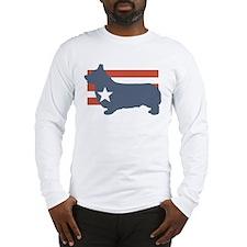 Patriotic Pembroke Welsh Corg Long Sleeve T-Shirt
