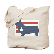 Patriotic Pembroke Welsh Corg Tote Bag